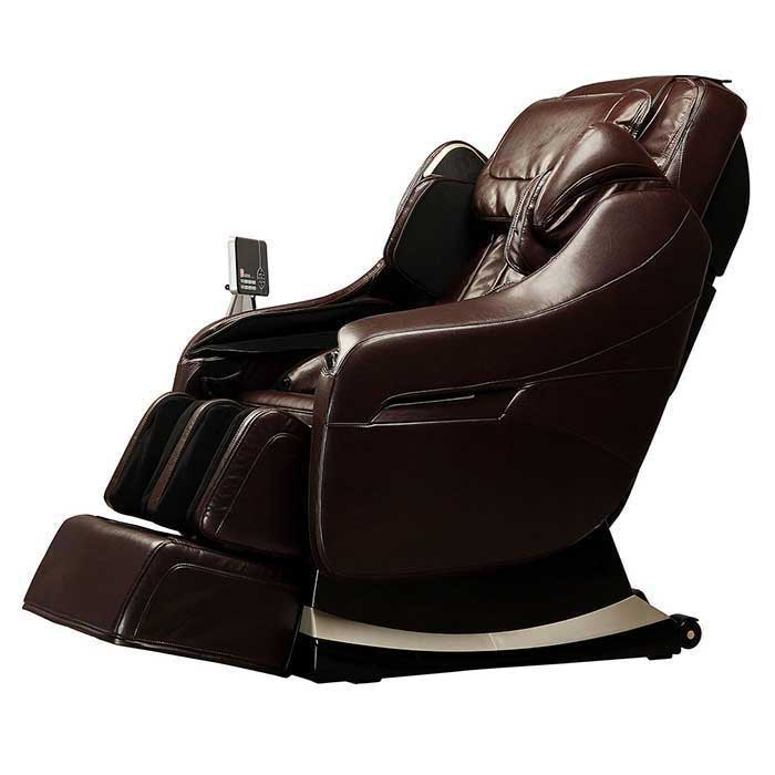 brown massage chair on white back ground