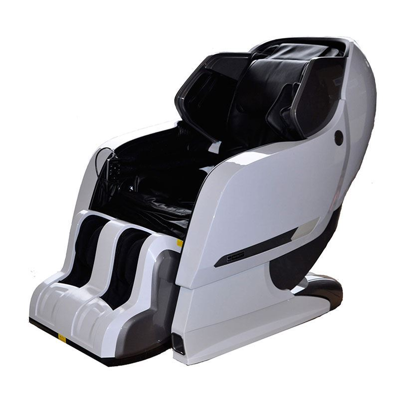 white external and black leather massage chair