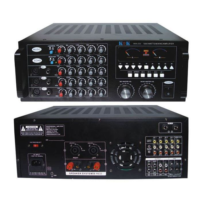 KOKaudio MXA-202 1000 Watt Karaoke Mixing Amplifier