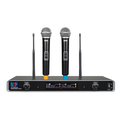 KOK Audio WMU-446 UHF Wireless Karaoke Microphone