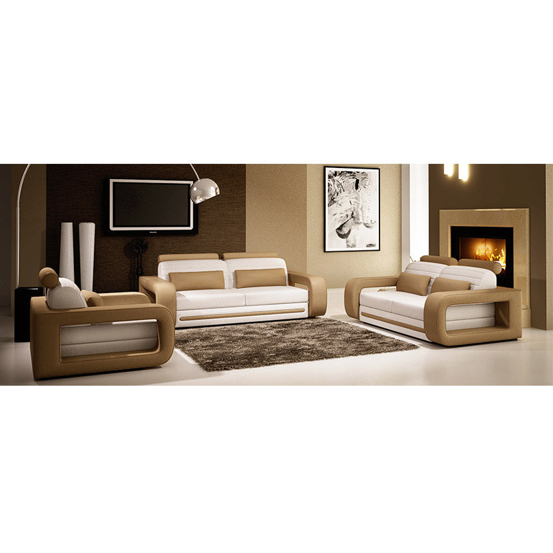 KOK USA 121005B Leather Sofa Set