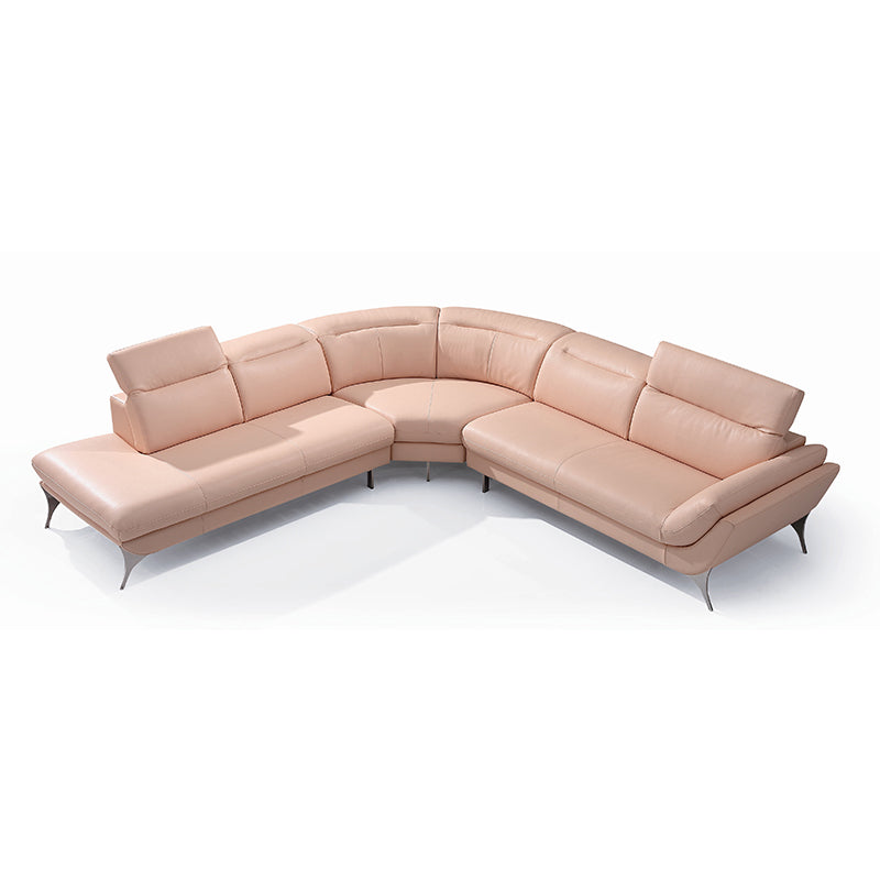 KOK USA 121541A Italian Leather Sofa Sectional