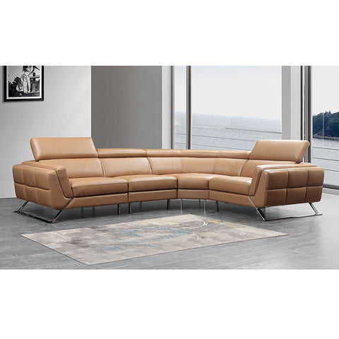 KOK USA 12911B Leather Sofa Sectional