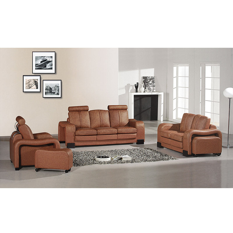 KOK USA 123339 Leather Sofa Set