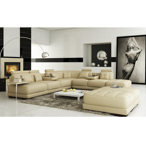 KOK USA 121514 Leather Sofa Sectional