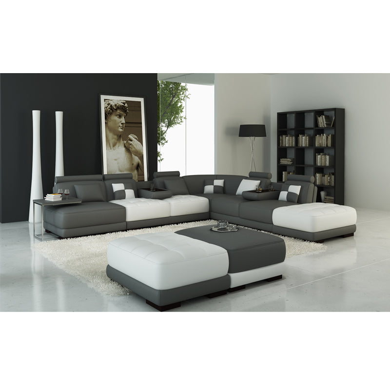 KOK USA 125004 Leather Sofa Sectional - Isingtec