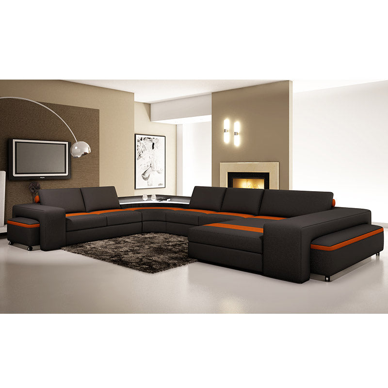 KOK USA 125030 Bonded Leather Sofa Sectional