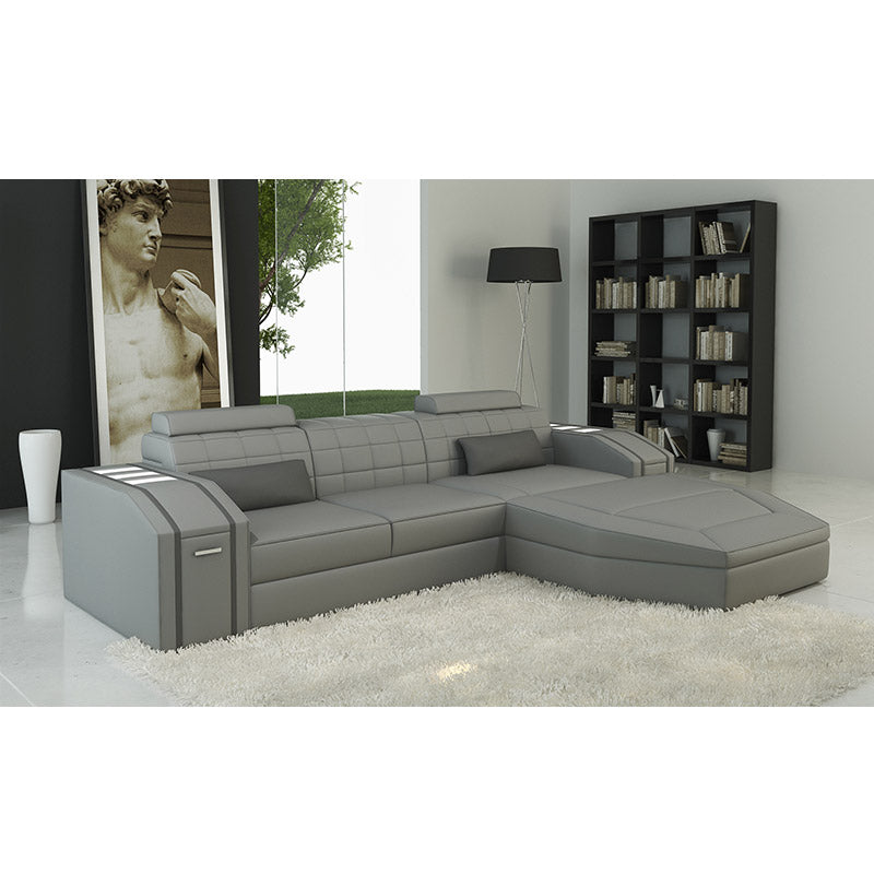 KOK USA 125038B Bonded Leather Sofa Sectional