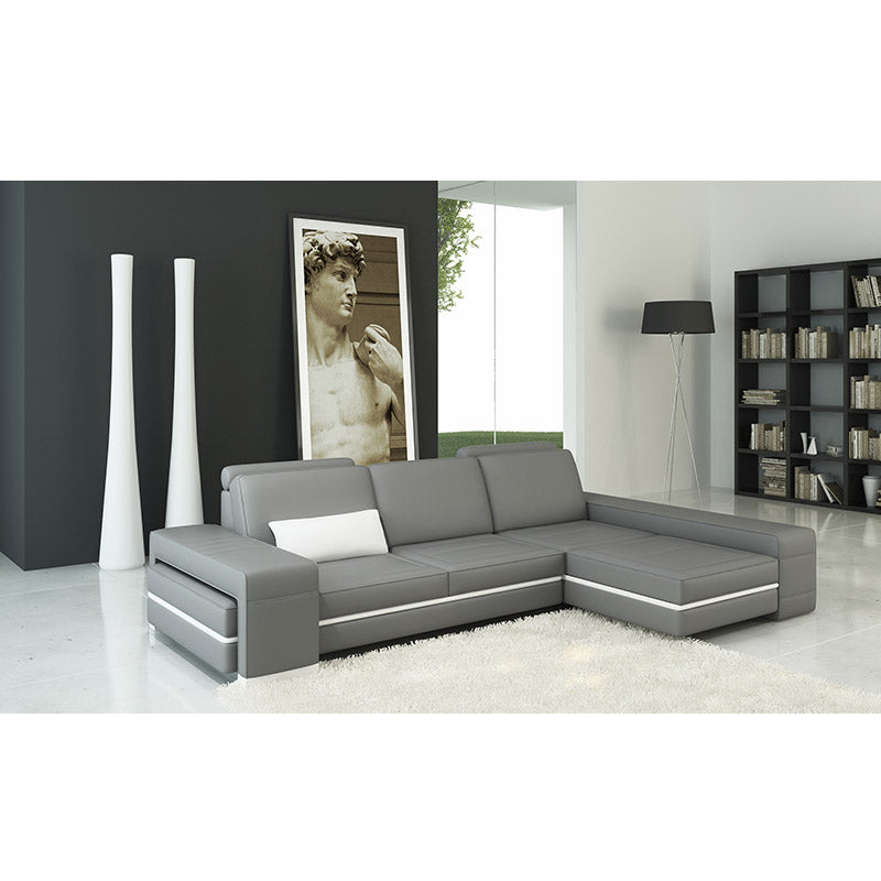 KOK USA 125070B Bonded Leather Sofa Sectional