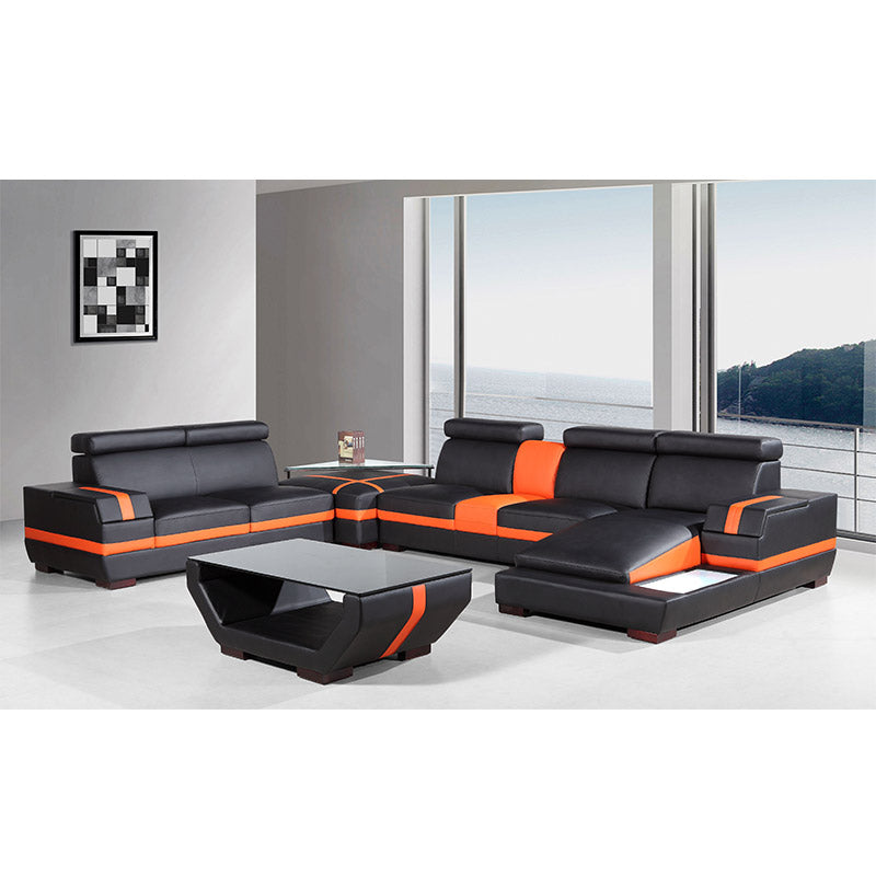 KOK USA 125099 Bonded Leather Sofa Sectional