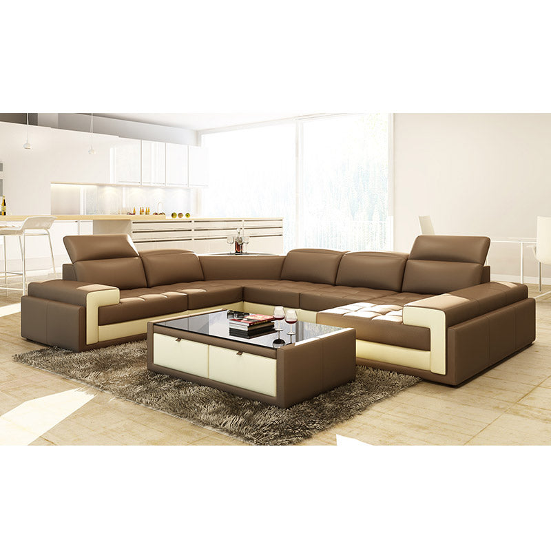 KOK USA 125104 Bonded Leather Sofa Sectional