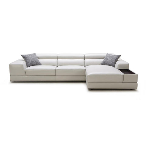 KOK USA 121530 Italian Leather Sofa Sectional