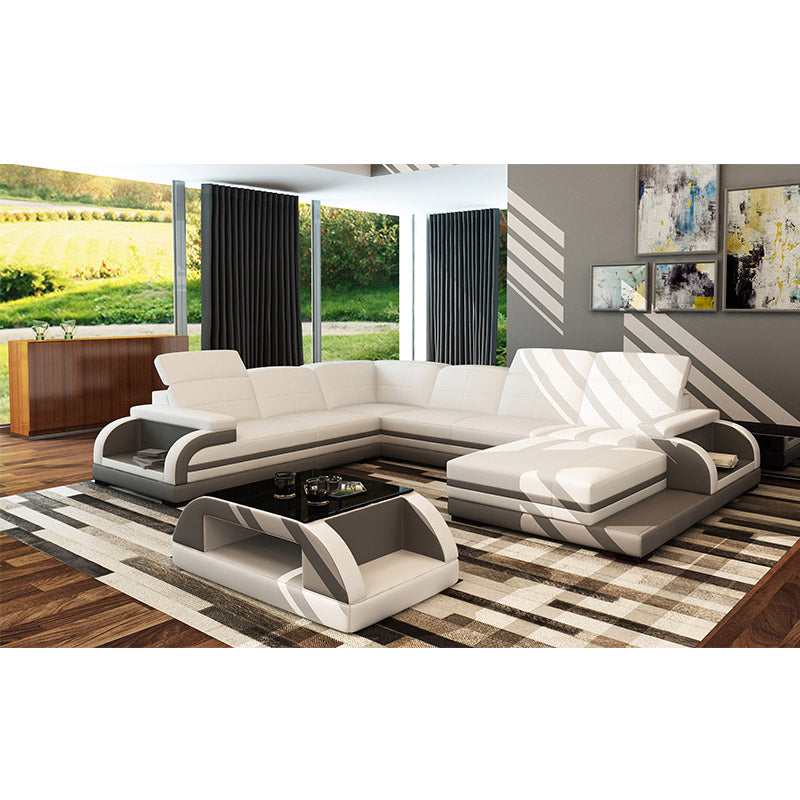 KOK USA 125132 Bonded Leather Sofa Sectional