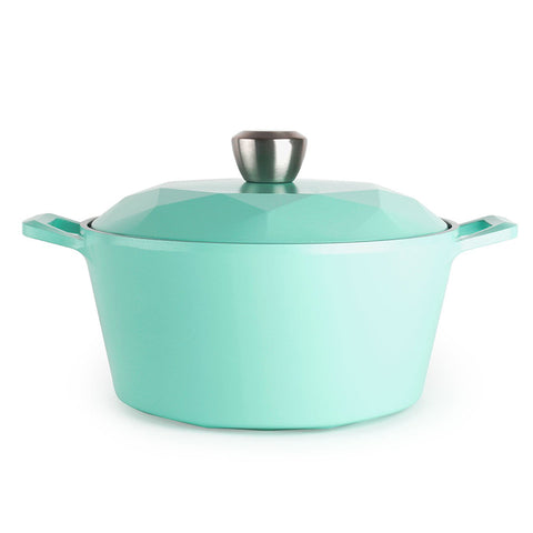 Neoflam Retro Ceramic Nonstick Stockpot with Glass Lid - 5QT