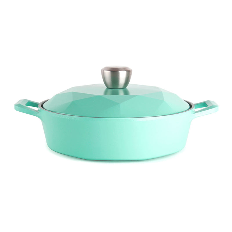 Neoflam Carat 2QT Low Stockpot in Fresh Green - Isingtec