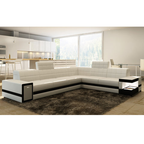 KOK USA 121541 Italian Leather Sofa Sectional