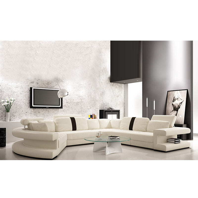 KOK USA 126123 Bonded Leather Sofa Sectional