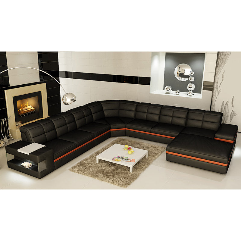 KOK USA 126130 Bonded Leather Sofa Sectional