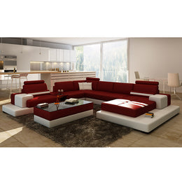 KOK USA 126137 Bonded Leather Sofa Sectional