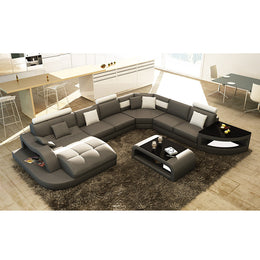 KOK USA 126140 Bonded Leather Sofa Sectional