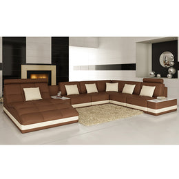 KOK USA 126143 Bonded Leather Sofa Sectional