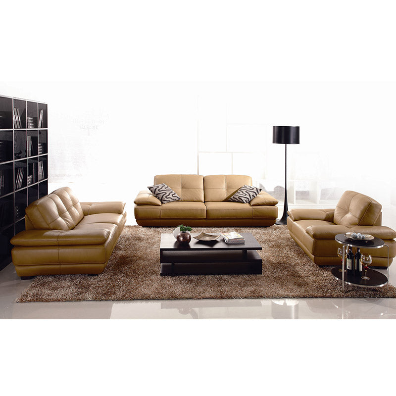 12666B Italia Leather Sofa Set