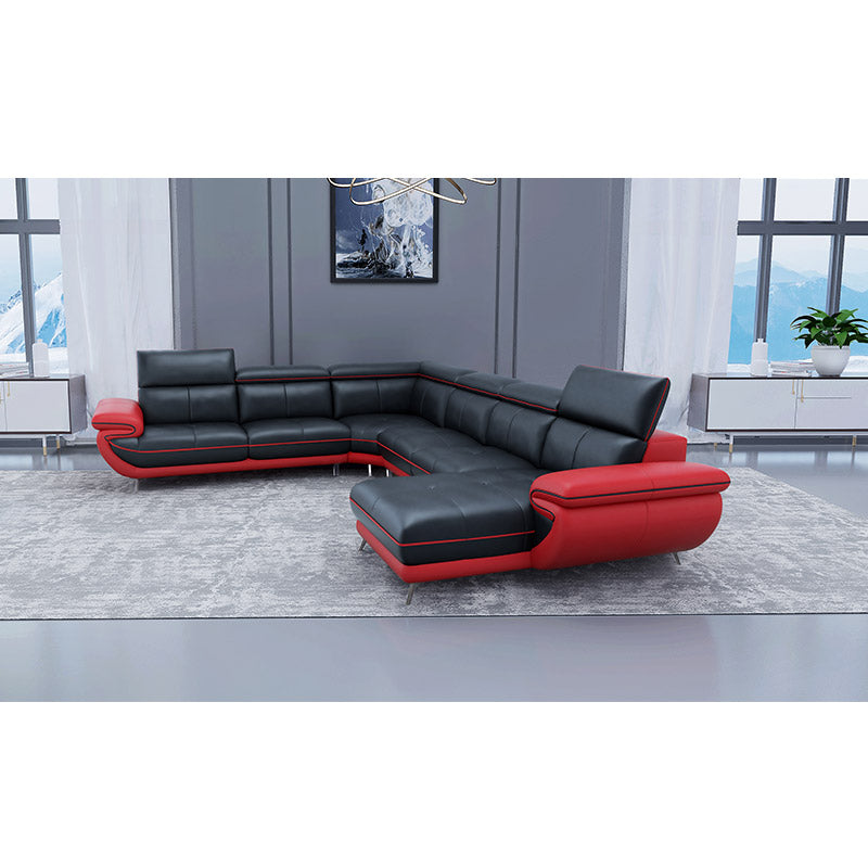KOK USA 126811 Bonded Leather Sofa Sectional
