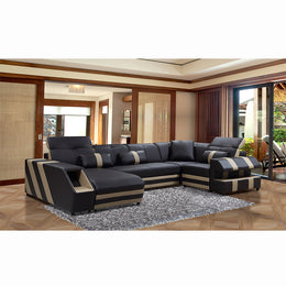 KOK USA 126817 Bonded Leather Sofa Sectional