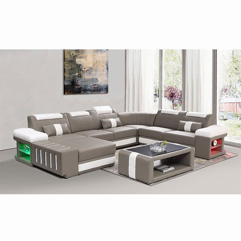 KOK USA 12950H Bonded Leather Sofa Sectional
