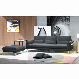 KOK USA 126838 Bonded Leather Sofa Sectional
