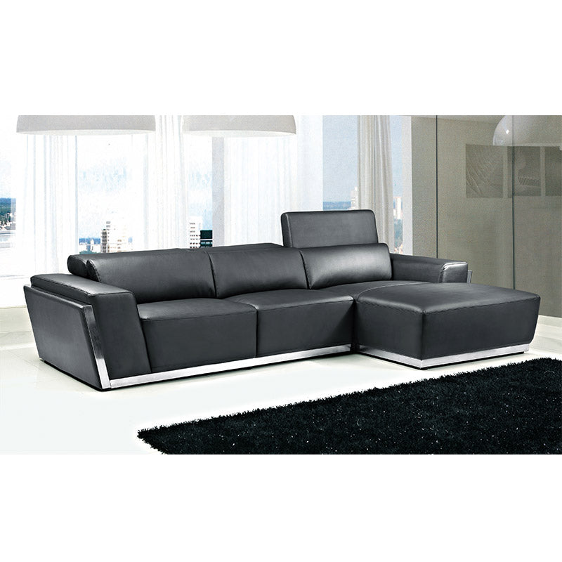KOK USA 128010C Bonded Leather Sofa Sectional