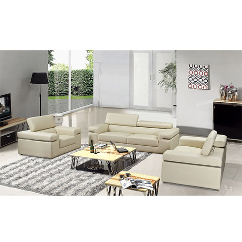 KOK USA 121920 Italian Leather Sofa Sectional