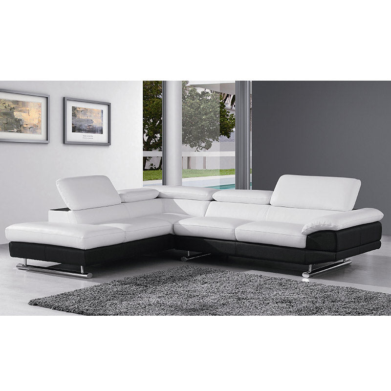 12868ANG Italian Leather Sofa Sectional