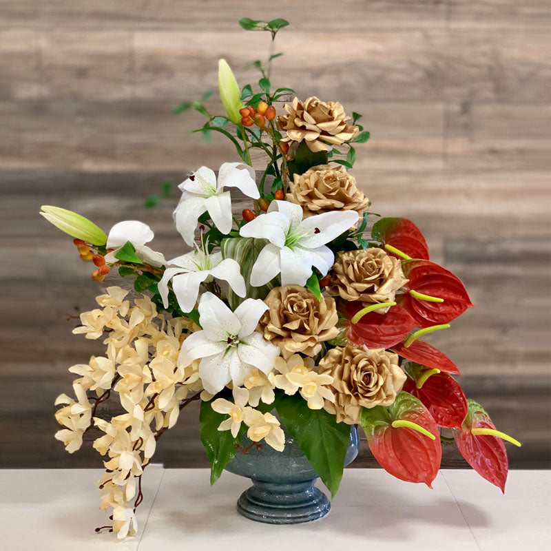 A90 Artificial Flower Arrangement - Isingtec