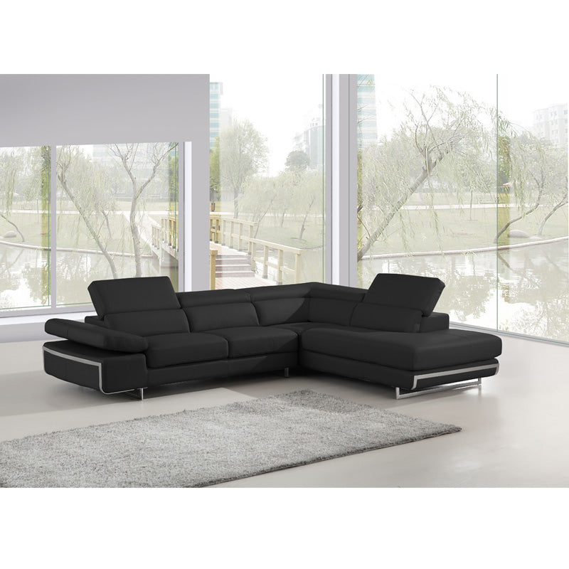 KOK USA 12965 Italian Leather Sofa Sectional