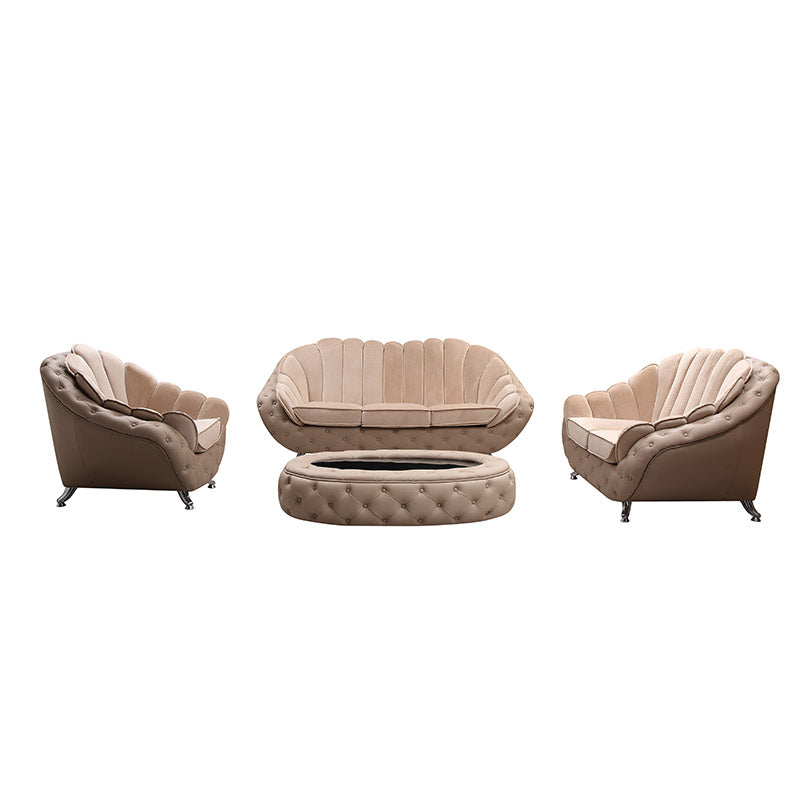 KOK USA 129913 Leather Sofa Set