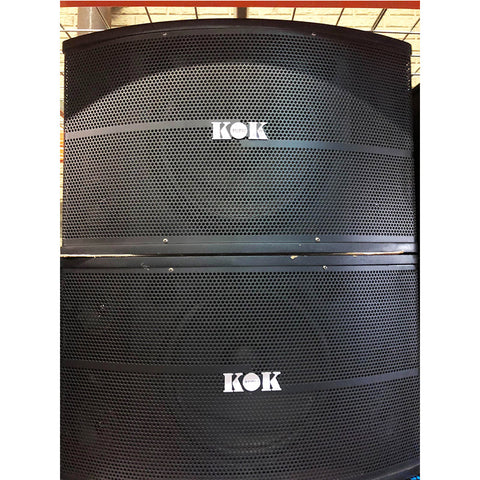 KOK Audio AS-210 600 Watt Karaoke Speaker (Open Box Pair)