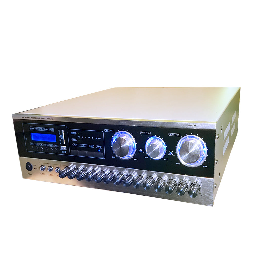 BKB RMX-100 600 Watt Mixing Amplifier Bluetooth, USB Rec, Optical Input - Isingtec