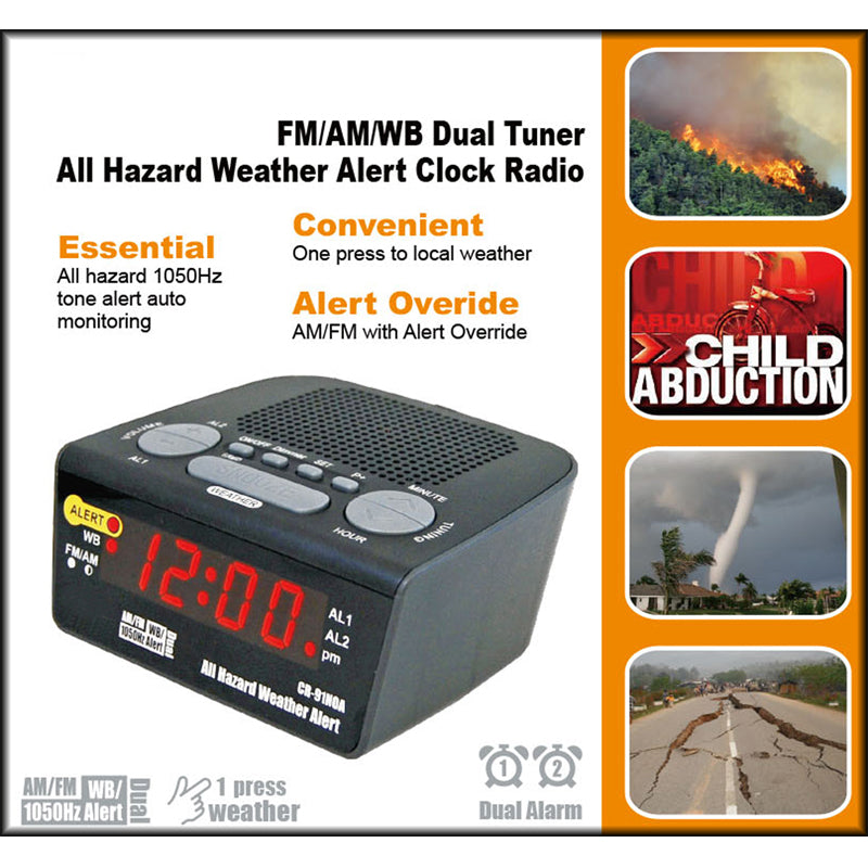 Queenfx 91NOA All Hazard Weather Alert Clock Radio (Sold In-Store only) - Isingtec