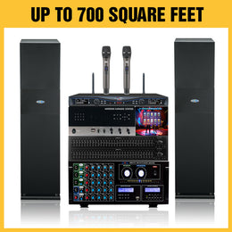 E500 Best Seller 2019 Karaoke Package 2400 Watts - Isingtec