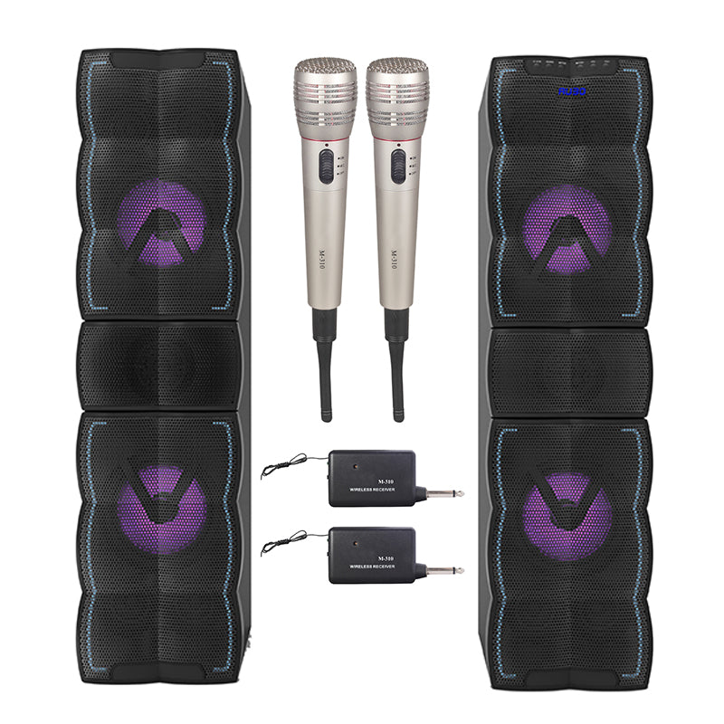 Queenfx HE700 Bluetooth karaoke speaker, 2 Wireless Mic (Sold In-Store Only) - Isingtec