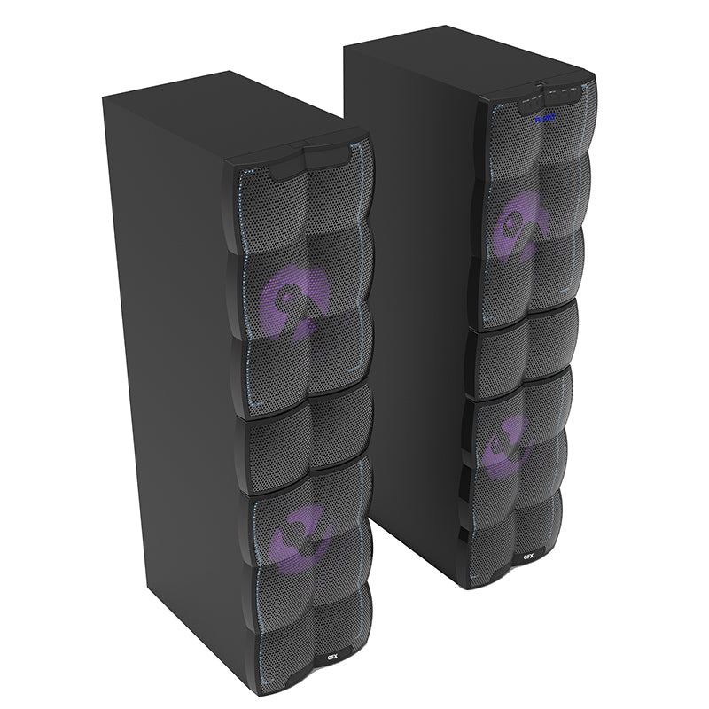 Queenfx HE700 BLuetooth, LED disco light,  Karaoke speaker 6.5x2 woofer (Sold In-Store Only) - Isingtec