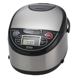 Tiger JAX-T Series Stainless Steel Micom Rice Cooker With Tacook Cooking Plate