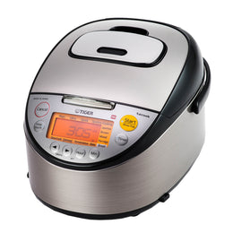 Tiger JKT-S Series IH Stainless Steel Multi-Functional Rice Cooker With Tacook Cooking Plate