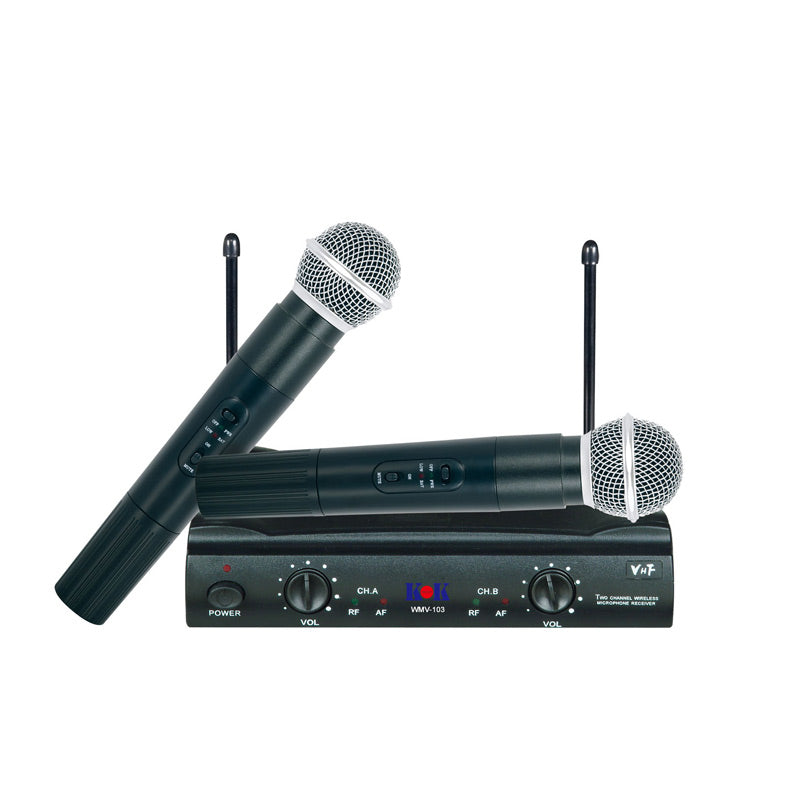 KOKaudio WMV-103 Dual VHF Wireless Microphone