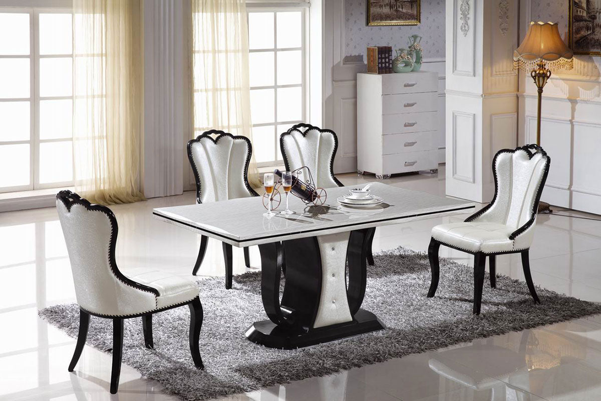 "KOK USA T-1306 36x63"" Marble Dining Table - Isingtec"