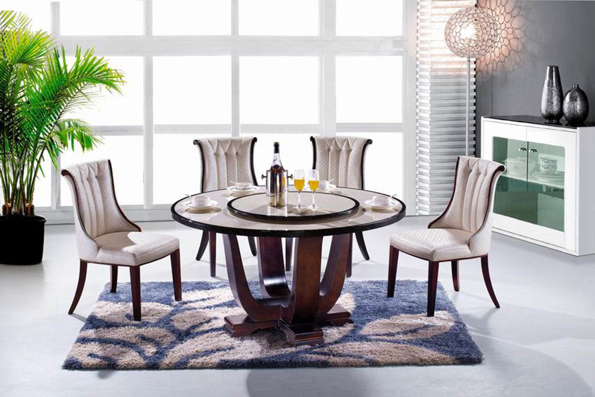 "KOKusa T-808 44"" Marble Dining Table - Isingtec"