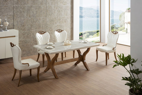 "KOKusa T-1309 36x63"" Marble Dining Table"