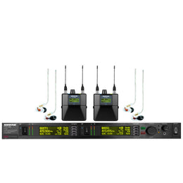 Shure P10TR425CL, Wireless System with Two Body pack Receivers and two SE425-CL Earphones G10 (Microphone) - Isingtec