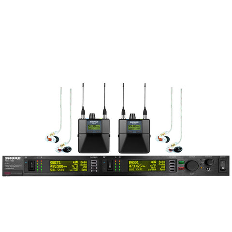 Shure Wireless Bodypack and Vocal Combo System with WL185 and SM58 Microphone Band H50